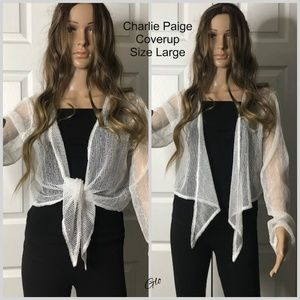 NWT Charlie Paige Crop Cover-up Top